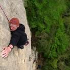 Tom klettert 30m Traumkalk ´Oggi in Stereo´(6a+)