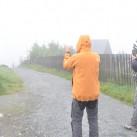 warten auf den läufer auf dem fichtelberg