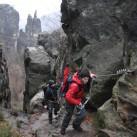 am Ausstieg des unteren Teils mit Brosinadel im Hintergrund
