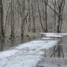 Die Strecke von 2010 unter Wasser