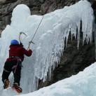 Eiskletterspaß am Vorhang