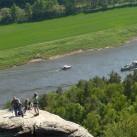 Klettern über der Elbe (Rathener Gebiet)