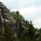 Klettern in bizarrer Felslandschaft in den Schrammsteinen