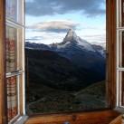 Zimmer mit Blick aufs Matterhorn