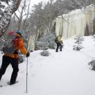 Schneeschuhe - unterwegs zu vereisten Wasserfällen