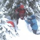 Spaß muss sein - Schneemannbauen der anderen Art