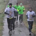 Team Coolrunner auf der Strecke im Schneetreiben