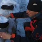 MSR Whisperlite International im Einsatz beim Schneeschmelzen auf Testtour