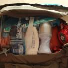Gut gepackt ist halb gewonnen: das geräumige Deckelfach des Deva 60