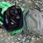 Das abnehmbare Deckelfach fasst als Hüfttasche problemlos eine SLR-Kamera + Objektiv
