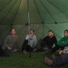 Vielleicht unser Gruppenzelt für die nächste Testtour: im Inneren des Altais ohne Innenzelt und Boden