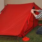 Rajd: kleines 2 Personen-Zelt - auch mit Trekkingstöcken aufzubauen