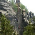 Klettern in der Schrammsteinkette - abseits von Touristenströmen