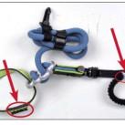 Bei Brenta Comfort und einer ersten Charge des Cable Lite befindet sich der Modellname auf einem Webetikett am Einbindering oder zwischen den Ästen