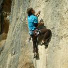 Der Kletterschuh hat sich in kleintrittigen und -griffigen Passagen bewähren müssen