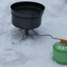 Aufbau im Schnee