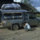 Reifenpanne in Laos