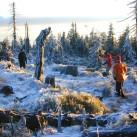 Morgensport: Frisbee spielen im Isergebirge