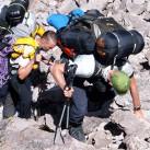 Florian und Martin beim Aufstieg Westseite zum Lager 3