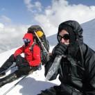 Falko und Florian auf der Nordseite an den Lenz Rocks. Kein Gipfeltag, sondern Versuch eines 3. Lagers auf der Nordseite