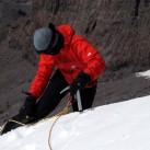 Florian an der Steilstufe Westseite, im Hintergrund: Utyug Rock