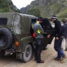 Von Kislovodsk geht es für alle weiter im Jeep (mit viel Platz für den Fahrer, sechs Menschen und ihre Rucksäcke :) )