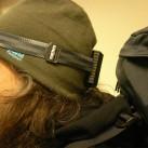 kurz vorm Gang in die Dunkelheit - unterwegs mit Trekking-Rucksack und Stirnlampe