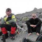 nach dem Gipfelerfolg: Christian (links im Bild) und Martin