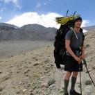 Falko - kurz vor Lager 2 auf der Nordseite - bei gutem Wetter immer den Gipfel vor Augen...