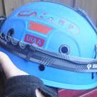guter Sitz auch auf dem Helm durch die einfache Einstellbarkeit der Bänder