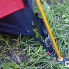 Gestängeösen der 3-Jahreszeiten-Zelte mit Abspannern rundum