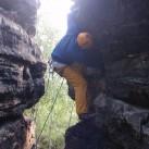 Bild 7: Nico im Elbsandstein am Lampertshorn in Bauchwälzer