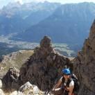 Bild 10: Franzi im Masaré-Klettersteig