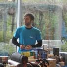 tapir Moritz in der Hardware-Abteilung