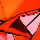 Deckenbelüftung (mit Moskitoeinsatz - oder komplett geöffnet); über diese 'Luke' ist auch die Belüftung am Aussenzelt zu öffnen, wobei der Wetterschutz über die darüberliegende Haube gegeben ist