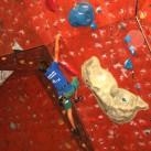 Johannes im langen Überhang