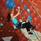 Tabea arbeitet schwer im steilen Gelände