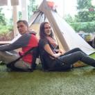 Laura und Marc testen die Trail Chairs - bequemer kann man kaum sitzen!
