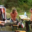 Nachmittägliche Ruhe vorm Sturm bei den Organisatoren der IG Klettern: Bergfilmfestival 2008_