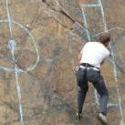 Immer wieder etwas Neues für das Rahmenprogramm: Wandfußball beim Bergfilmfestival 2008