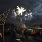 Feuerwerk beim Bergfilmfestival 2009