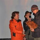Der einzige bisherige Preisträger, der zweimal die meisten Stimmen bekommen konnte: Uwe beim Bergfilmfestival 2009