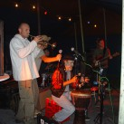 Livemusik, egal bei welchem Wetter: Bergfilmfestival 2007