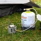 Der Edelrid Hexon Multifuel im Betrieb mit Gaskartusche