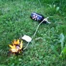 Keine Angst vor Stichflammen - die gehören eben dazu! (Von Anwendung in Innenräumen und im Zelt wird dringend abgeraten!)