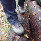 Rutschfestigkeitstest auf nassen Baumstämmen - bestanden!