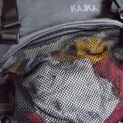 Separate Netztasche im Schlafsackfach zum Trocknen von nasser Wäsche