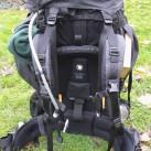 Vollgepackter Kajka mit dem schönen Birkenstreben-Tragesystem