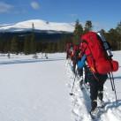 Unterwegs im Fjell - Mit gutem Mikroklima in der Jacke auch bei strahlendem Sonnenschein und tiefem Schnee