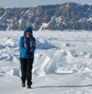 Einsamkeit am Baikal im Winter- Dank Lammfellfutter auch bei -25°C warme Füße